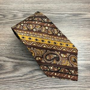 Robert Talbott Brown, Gold & White Paisley Tie